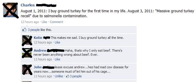 Nothing's ever been wrong with beef, eh?
