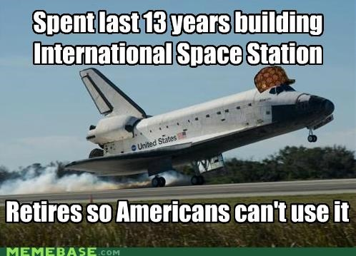 america Memes nasa shuttle space space station - 5049909760