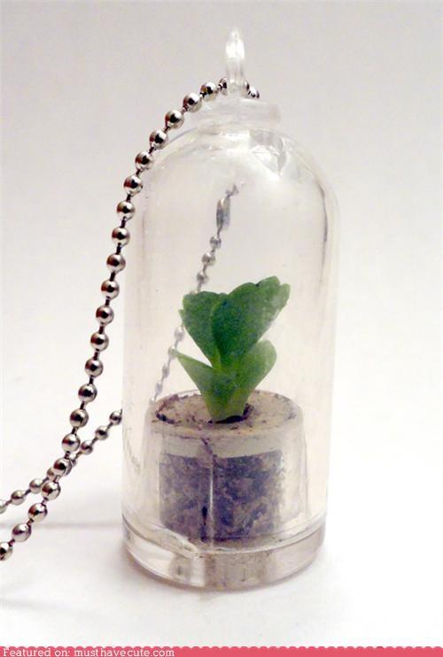 charm dirt leaves plant tiny vial - 5049927936