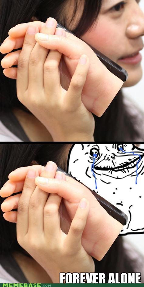 apple forever alone friend hand iphone Japan what - 5050020608