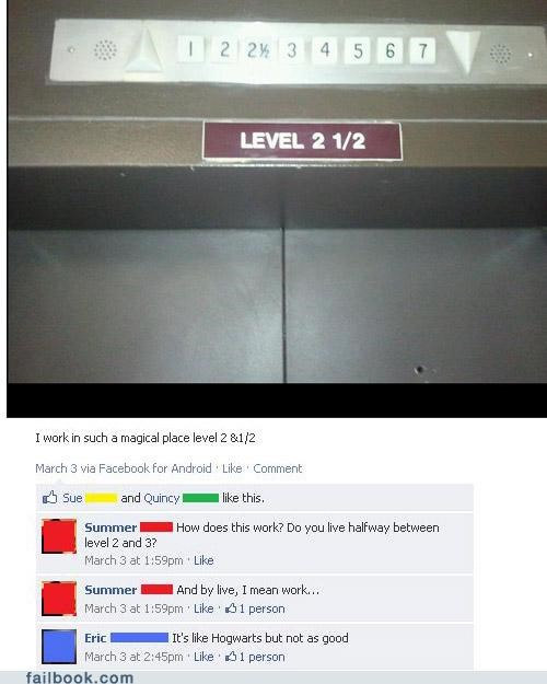 elevator,Harry Potter,witty reply,wtf