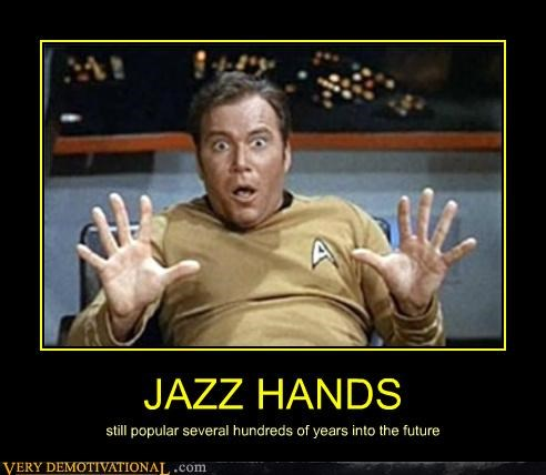 hilarious james t kirk jazz hands Star Trek - 5050086400