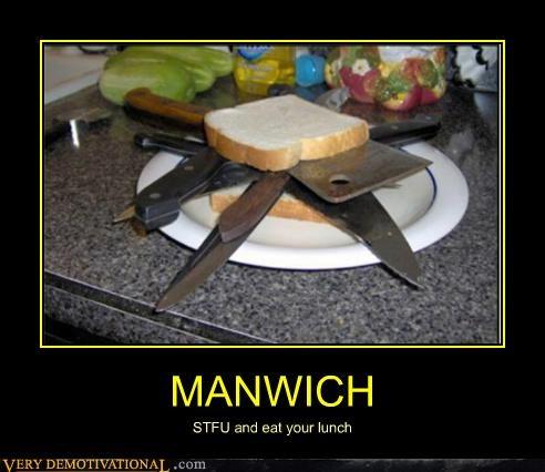 hilarious knives manwich sandwich wtf - 5050098944