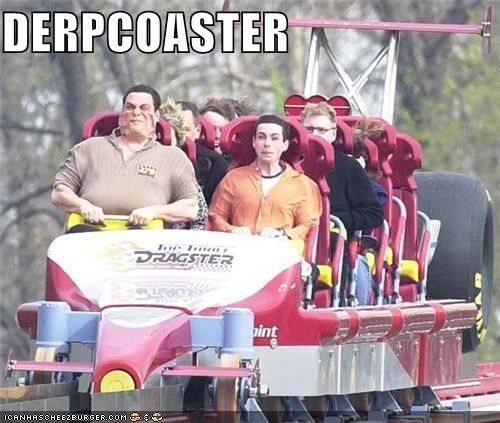 derp ride rollercoaster theme park warped face - 5050127616
