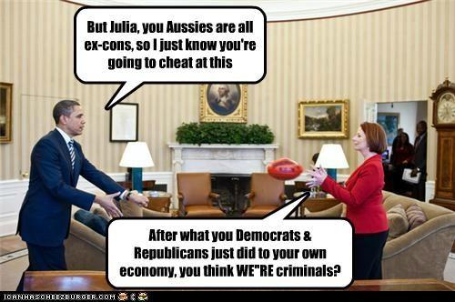 australia barack obama debt economy Julia Gillard political pictures united states - 5050279680