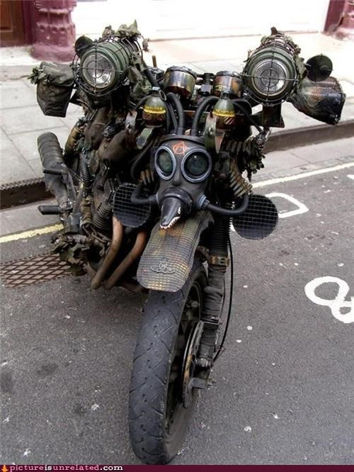 apocalypse awesome motorcycle wtf - 5050283776