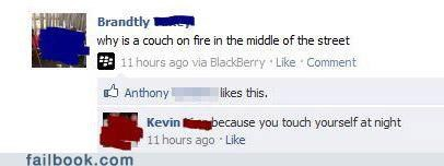 couch fire masturbation