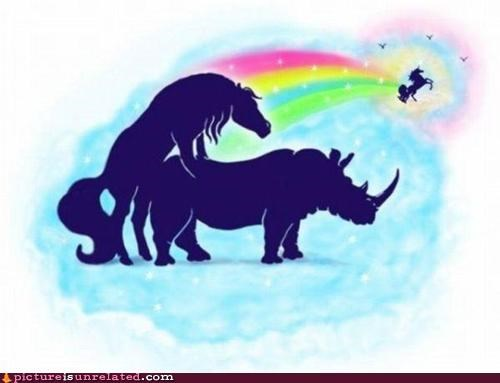 art horse rhino unicorn wtf - 5050371328