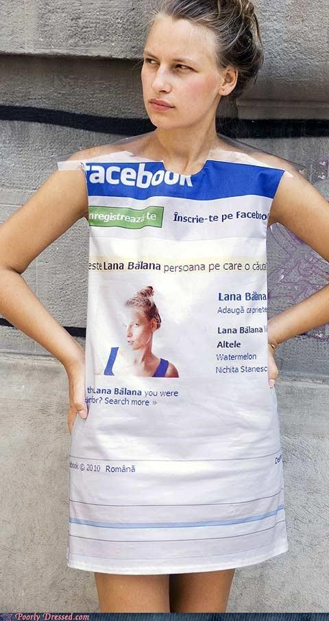 dress facebook shower curtain - 5050547968