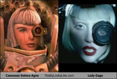 android,blondes,Canoness Selena Agna,eye patch,lady gaga,musicians,relic,singers,video games
