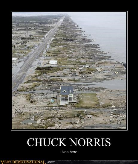 chuck norris flood hilarious house lives here - 5050749952