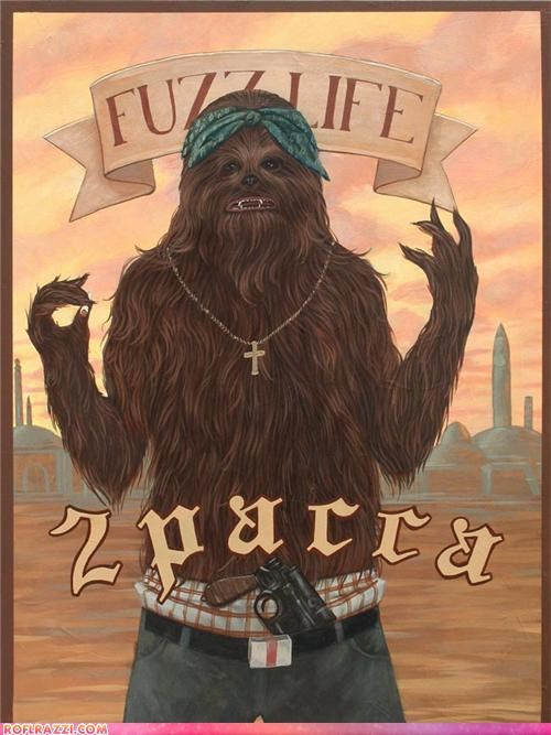 2Pac art chewbacca funny Hall of Fame sci fi tupac - 5050871552