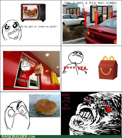 big mac expectations fast food McDonald's Rage Comics - 5050925312