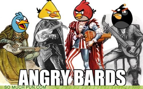 angry birds bards birds Hall of Fame literalism similar sounding song Theme Song trolling youre-welcome