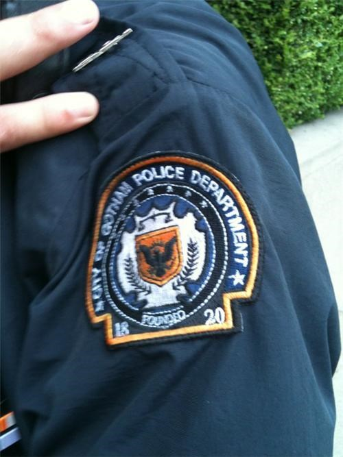 batman,gotham city police,movies,police patch,props,the dark knight rises