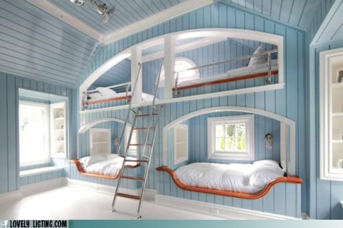 bedroom,best of the week,built in,bunk beds