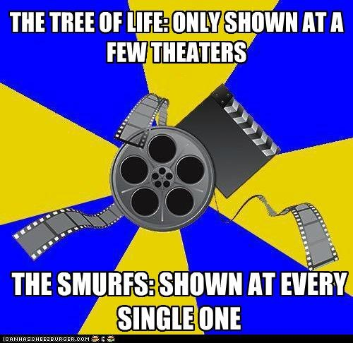 Memes,movies,smurfs,theaters,Tree Of Life