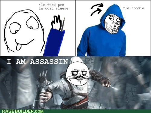 assassins creed,hoodie,me gusta,pen,Rage Comics