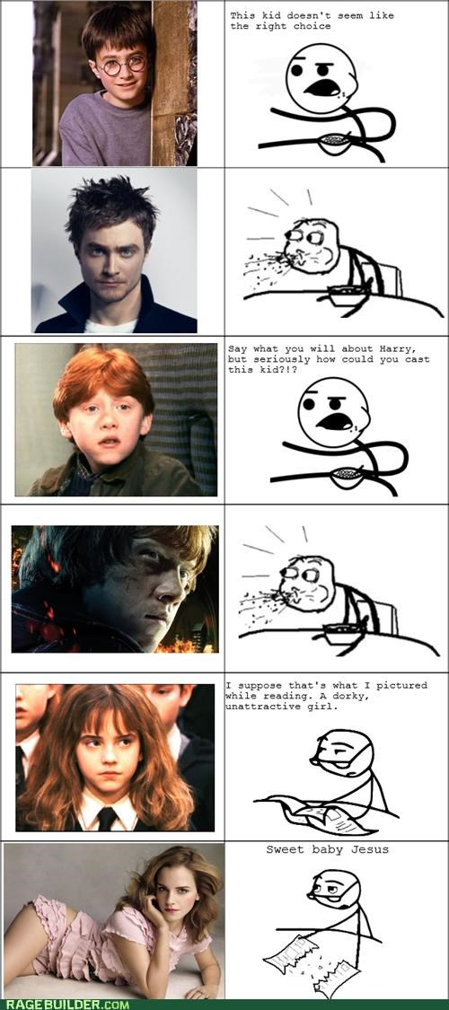 casting,emma watson,Harry Potter,hermione granger,hot,movies,Rage Comics