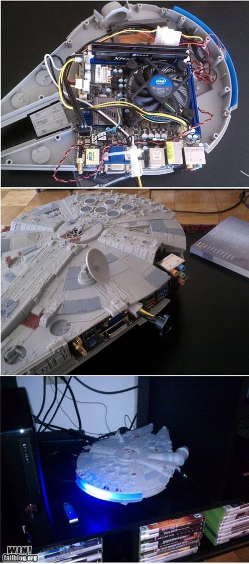 case mod light speed millennium falcon star wars theyve-gone-to-plaid - 5051606016