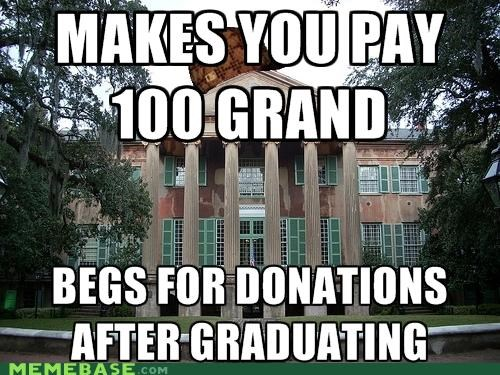 all the ations college donations education graduation Memes - 5051681024