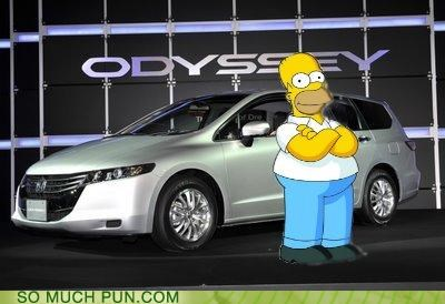brand,car,double meaning,homer,meaninception,odyssey,the odyssey,the simpsons,triple meaning