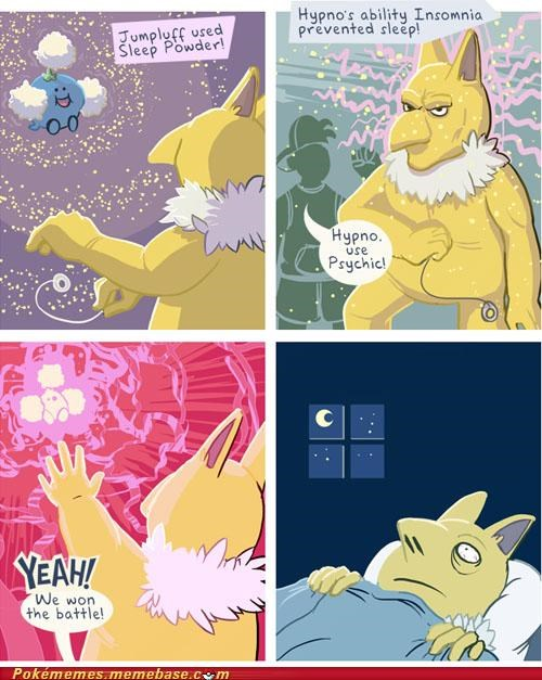 Poor Hypno Can't Even Get a Wink of Sleep