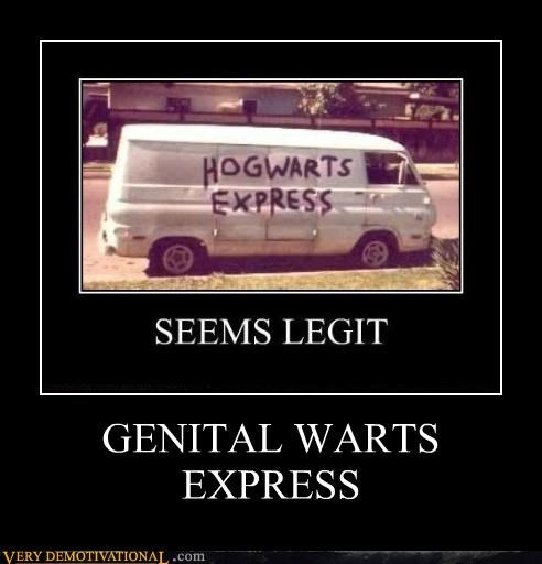 genital warts Hogwarts STDs Terrifying van - 5052845056