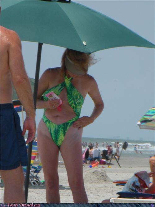 beach green swimsuit tan lines - 5053139456