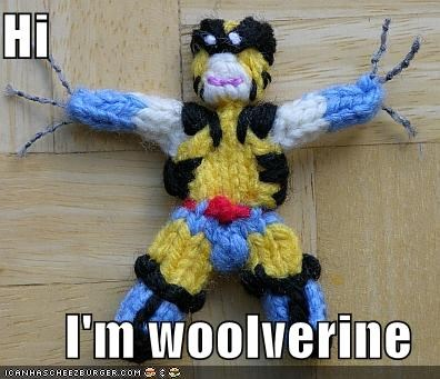 craft,Super-Lols,wolverine,x men,yarn