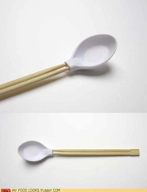 chopsticks handle noodles pho soup spoon - 5053906688