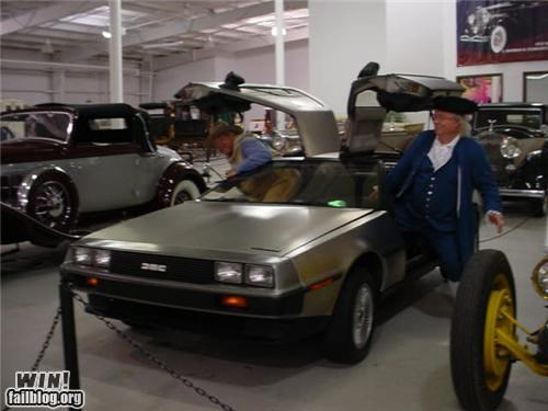 ben franklin,DeLorean,sci fi,time travel