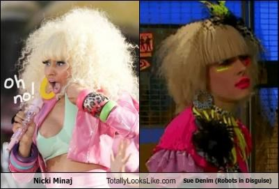 horrible hair nicki minaj 80s style robots in disguise bad makeup blondes frizzy hair Sue Denim singers 80s - 5053965312