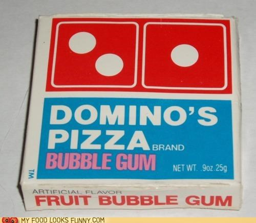 bubble gum candy dominos fruit gum pizza - 5053980160