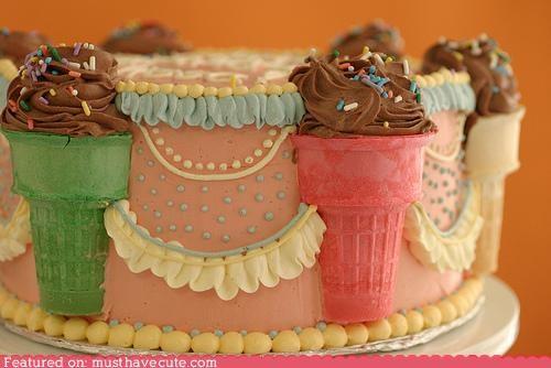 cake,cones,epicute,frosting,ice cream