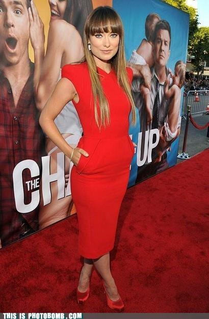Celebrity Edition dat ass olivia wilde red carpet ryan reynolds the changeup - 5054197504
