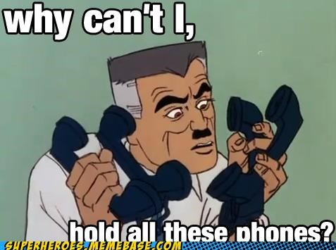 jonah jameson phones Spider-Man Super-Lols - 5054387968