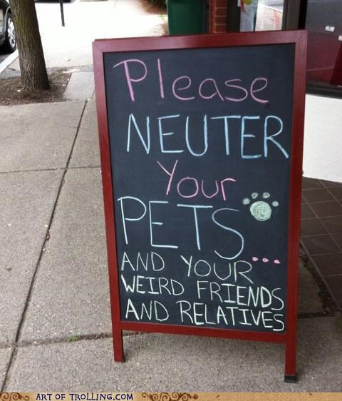 friends IRL neuter pets sign weird - 5054408704
