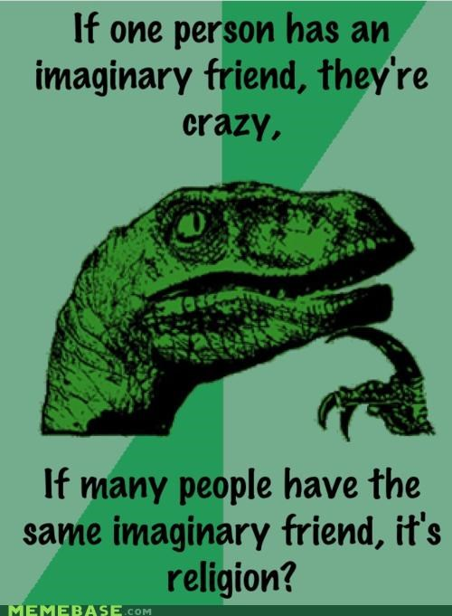 friends imaginary philosoraptor religion - 5054419200