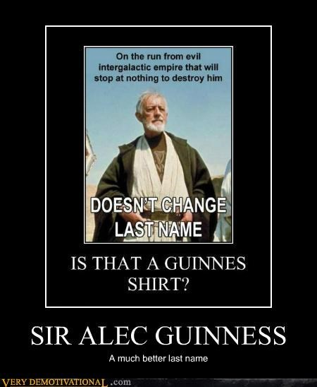 hilarious obi-wan kenobi sir alec guinness star wars - 5054425600
