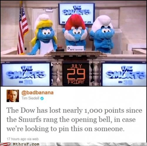 Hall of Fame smurfs Stock Market twitter - 5054427648