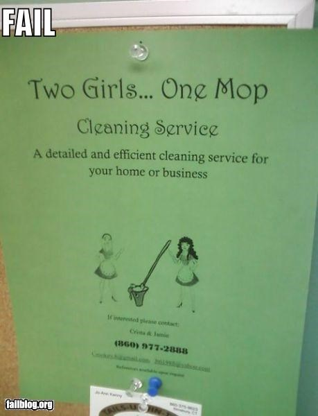 Cleaning Service FAIL