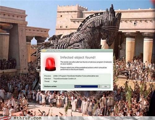 error message infected trojan trojan horse virus