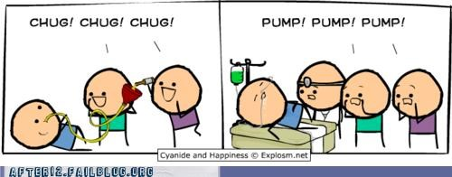 chug,cyanide-happiness,stomach pump