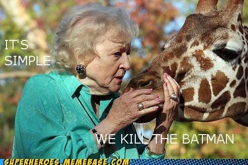 batman bea arthur evil scheme giraffes Super-Lols - 5054936320