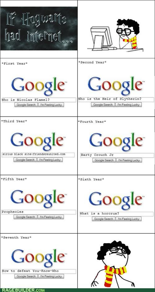 google,Harry Potter,Hogwarts,Rage Comics,what if