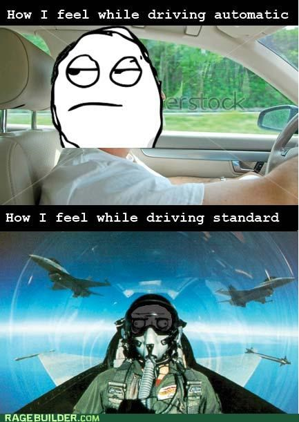 automatic,driving,manual,Rage Comics,standard