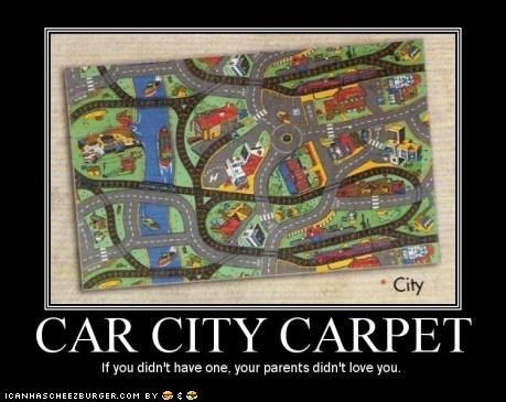 car city,carpet,cars,childhood,family,love,parents,toys