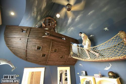 design kids room mad jealous Pirate room ship - 5055181568
