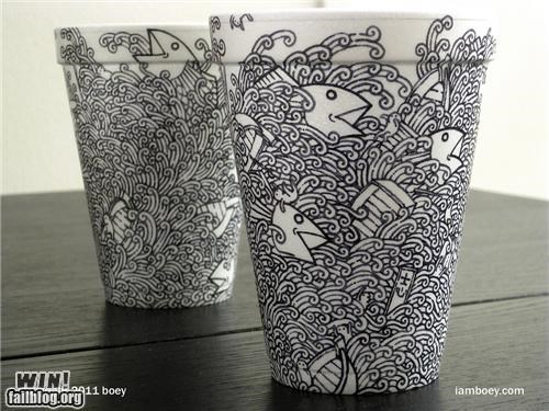 art,boey,cups,sharpie